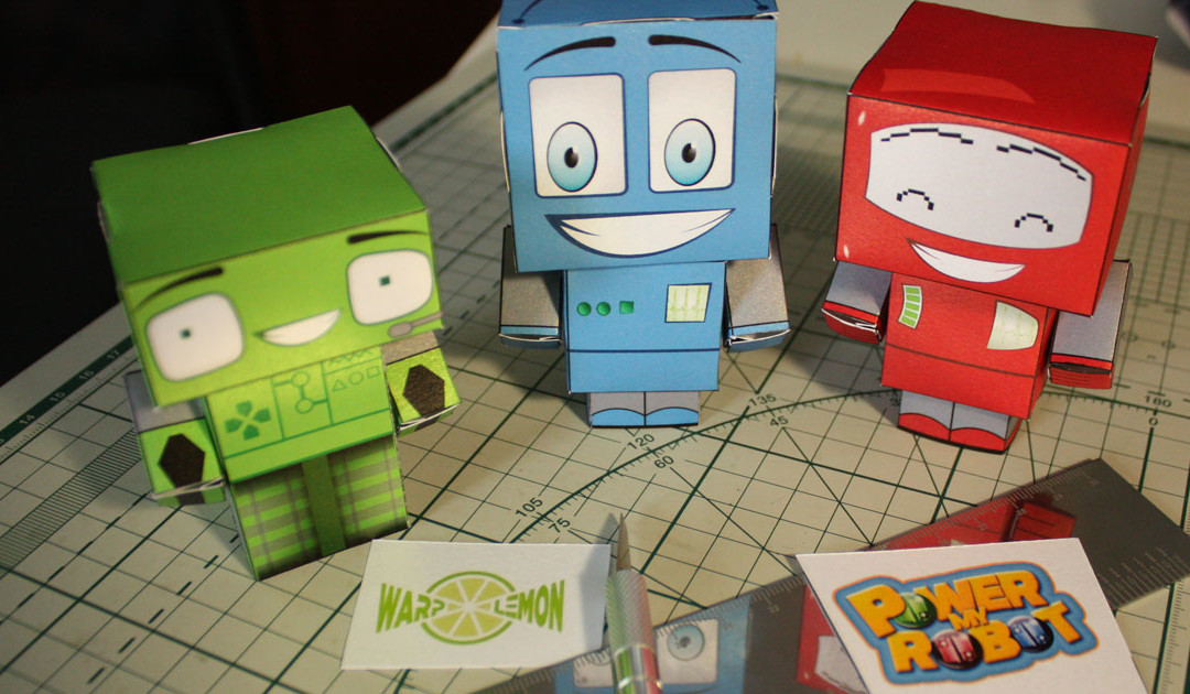 Papercraft of Power my Robot